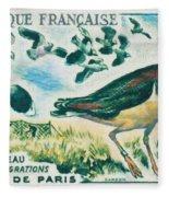 Lapwings Study Of Migration Museum Of Paris Fleece Blanket