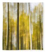 Larch Grove Blurred Fleece Blanket