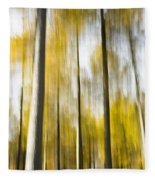 Larch In Abstract Fleece Blanket