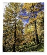 Larch Pines Fleece Blanket