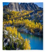 Larches At Perfection Lake Fleece Blanket