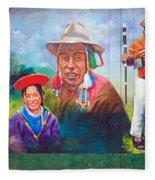 Large Mural In Cusco Peru Part 6 Fleece Blanket