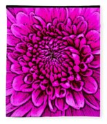 Large Pink Dahlia Retro Style Fleece Blanket