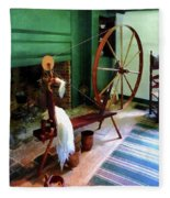Large Spinning Wheel Fleece Blanket