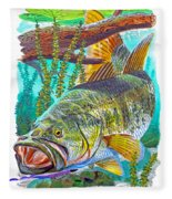 Largemouth Bass Fleece Blanket
