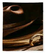 Lariat And Hat Fleece Blanket
