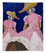 Las Charras Rosadas Fleece Blanket