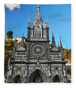 Las Lajas Front Fleece Blanket