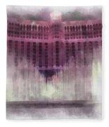 Las Vegas Bellagio Photo Art Fleece Blanket
