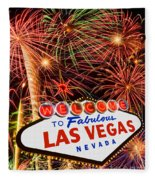 Las Vegas Fleece Blanket