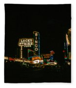 Las Vegas Lights2 Fleece Blanket