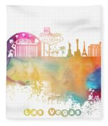 Las Vegas Nevada Skyline  Fleece Blanket