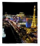 City - Las Vegas Nightlife Fleece Blanket