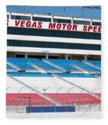 Las Vegas Speedway Grandstands Fleece Blanket