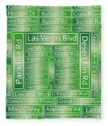 Las Vegas Street Road Signs  Fleece Blanket