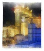 Las Vegas The Palace Photo Art Fleece Blanket