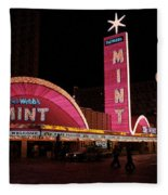 Las Vegas With Watercolor Effect Fleece Blanket
