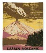Lassen Travel Poster 1938 Fleece Blanket