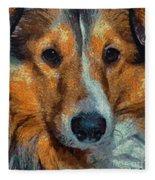 Lassie - Rough Collie Fleece Blanket