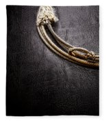 Lasso On Leather Fleece Blanket