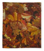 Last Fall In Monroe Fleece Blanket