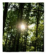 Last Light In The Forest Fleece Blanket