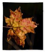 Last Maple Leaf Fleece Blanket