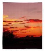 Last Night's Sunset Fleece Blanket