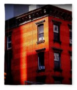 Last Rays Of The Sun - Old Buildings Of New York Fleece Blanket