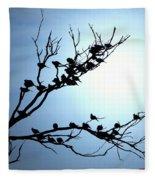 Lasy Birds Fleece Blanket