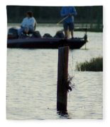 Late Afternoon At Lake Seminole Ga Bass Fishing Fleece Blanket