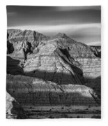 Late Afternoon In The Badlands Fleece Blanket