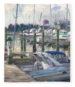 Late Afternoon In Virginia Harbor Fleece Blanket