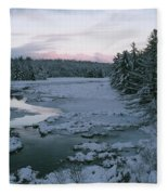 Late Afternoon In Winter Fleece Blanket