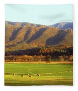 Late Autumn Afternoon In Cades Cove Fleece Blanket