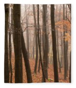 Late Autumn Beech Fleece Blanket