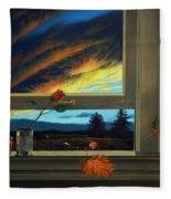 Late Autumn Breeze By Christopher Shellhammer Fleece Blanket