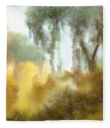 Late Autumn Chill Fleece Blanket