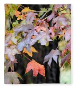 Late Autumn Maples Fleece Blanket