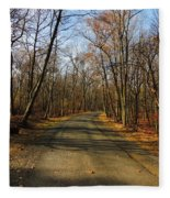 Late Fall At Cheesequake State Park Fleece Blanket