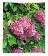 Late Hydrangea Flower Fleece Blanket