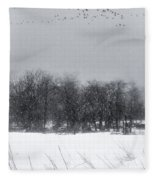 Late Migration Fleece Blanket