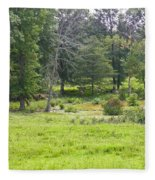 Late Summer By The Pond Fleece Blanket