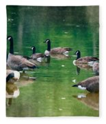 Late Summer Gathering Fleece Blanket