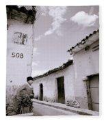 The Alleys Of Cuzco Fleece Blanket