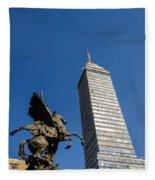Latin American Tower And Statue Fleece Blanket
