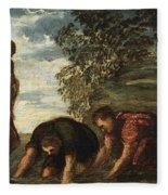Latona Changing The Lycian Peasants Into Frogs Fleece Blanket