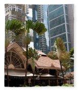 Lau Pa Sat Market 01 Fleece Blanket