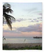 Lauderdale By The Sea Florida Sunset Fleece Blanket