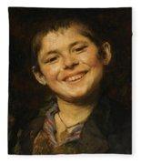 Laughing Boy Fleece Blanket